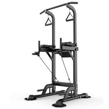 MIKING 045 Multifunction Power Tower Adjustable Horizontal Bar Pull ups Dip Stands Pull Up Bar Gym Strength Training Fitness Equipment for Adult Kids