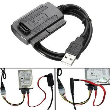 USB 2.0 a SATA/IDE Cavo Dati di Disco Rigido per HDD Adattatore Convertitore d'Alimentazione