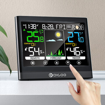 DIGOO DG_TH8622 3 Channels Color Screen Weather Station