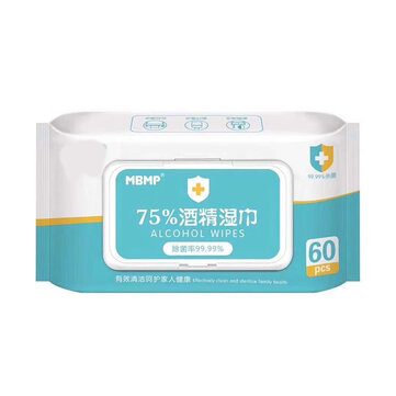 60 Pcs 75% Alcohol Sterilization Wipes Tablets Wipes Disposable Paper for Healthcare for sale in Bitcoin, Litecoin, Ethereum, Bitcoin Cash with the best price and Free Shipping on Gipsybee.com
