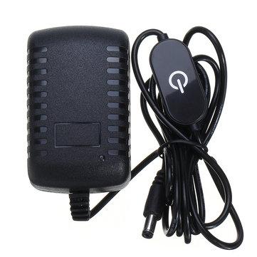 1.5M 2M AC110-240V To DC12V 2A 24W Power Adapter with Touch Dimmer Switch US Plug for LED Strip Light