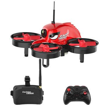 Eachine E013 Mikro FPV RC Drone Quadcopter Dengan 5.8G 1000TVL 40CH Kamera VR006 VR-006 3 Inch Kacamata
