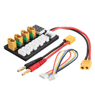 4CH Parallel Charging Board XT60 Banana Plug For ISDT D2 Q6 T6 Lite Imax B6 Charger