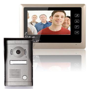 ENNIO SY809MF11 7 Inch Video Door Phone Doorbell Intercom System Kit 1-Camera 1-Monitor Night Vision