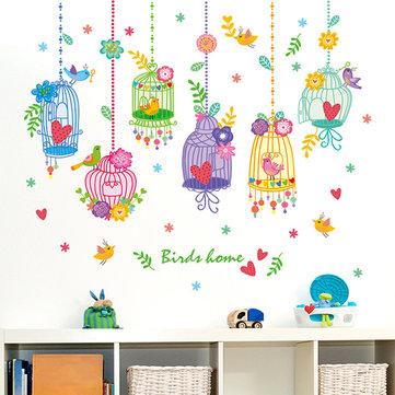 Flyttbara barn rum vägg klistermärken kristall flaska landsbygd barn sovrum lekrum dekoration
