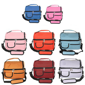 8L Multi-Function Double-Layer Thicken Heat Preservation Cold Insulation Bag Waterproof Ice Pack Storage Tote Box