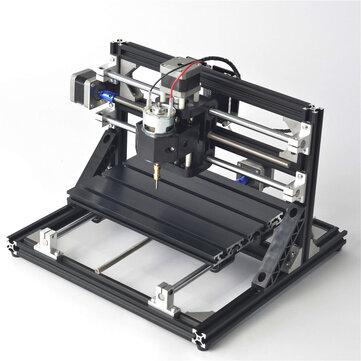 Negro 2418 3 Axis CNC Router Spindle motor Engraver DIY Wood Milling Máquina de grabado 240x180mm