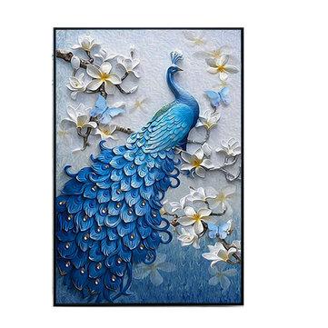 """5D Peacock Diamentowe Obrazy Haft Cross Stitch Home Craft Decor 23,6 """"x15.7"""""""