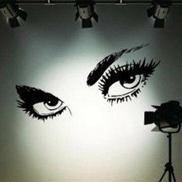 50 x 95cm preto grande adesivos de parede olhos sensuais belos olhos decoração home da parede parede decalque