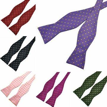 PenSee Mens Bow Ties Polka Dot Paisley Jacquard Woven Silk Neckties Accessory
