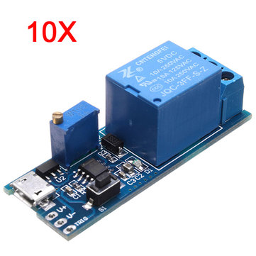 10Pcs 5V-30V Wide Voltage Trigger Delay Timer Relay Conduction Relay Module Time Delay Switch