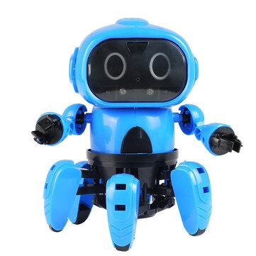 MoFun DIY Stem 6-Legged Gesture Sensing Infrared Hindari Rintangan Berjalan Robot Toy
