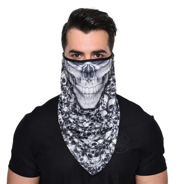 Buy Quick Dry Breathable Riding Face Mask Skull Fashion Windproof Sunproof Outdoor Multifunction Triangle Scarf with Litecoins with Free Shipping on Gipsybee.com