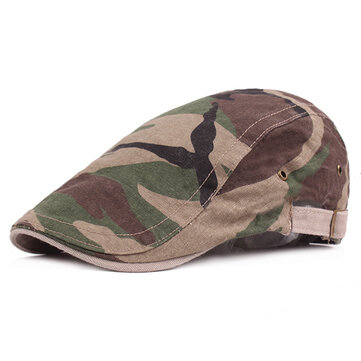 Men Camouflage Cotton Military Beret Cap Bucket Adjustable Outdoor Sunshade Sun Hats