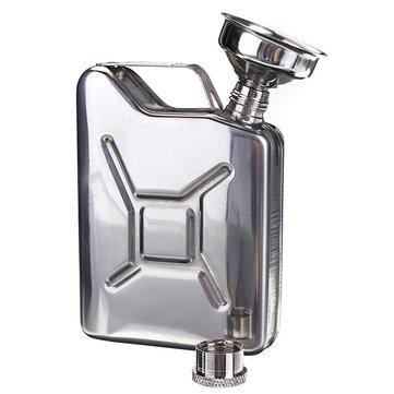 Portable 5oz Inox Mini Hip Flask Rượu Whisky Chai bỏ túi có phễu