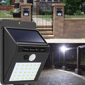 Energia Solar 30 LED PIR Movimento Sensor Luz Da Parede À Prova D 'Água Ao Ar Livre Caminho Quintal Lâmpada De Segurança Do Jardim