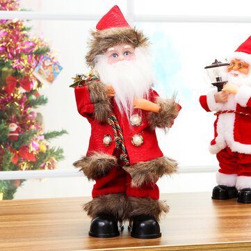Christmas Santa Clause Electric Singing Dancing Toy Kids Gift Doll Table Decor