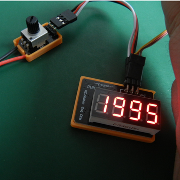 Mini Servo Tester 3V To 6V With PWM Digital Display Pulse Width Frequency Displayer
