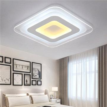 52W 64W 3 färger Dimmable Modern Ultrathin LED taklampa Dekorativa lampskärm för vardagsrum
