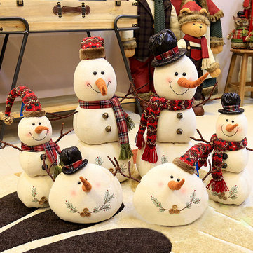 Muñeco de muñecas de muñeco de nieve de Navidad 2017 Adorno Mesa Decoración de escritorio Regalos de Navidad para niños