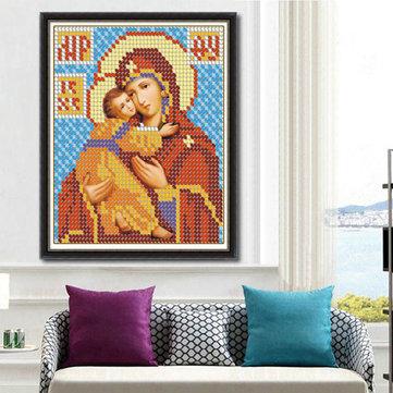 25x30cm 5D DIYダイヤモンド絵画宗教文化ラインストーンクロスステッチキットホームデコレーション