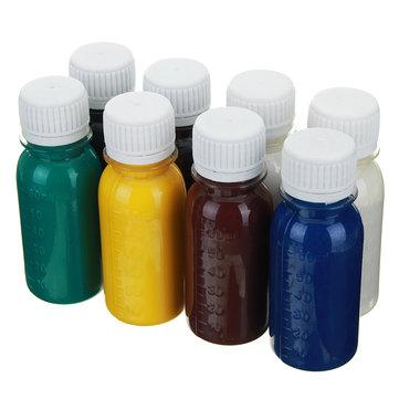 60ml DIY Leather Dye Oil Diluent Tools Kit Colorant Liquid Pigment Mix Colors DIY Crafts