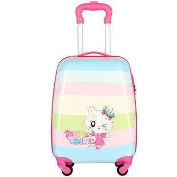 18inch Children Luggage Cartoon Travel Suitcase Camping Aluminium Trolley Bag Rolling Luggage