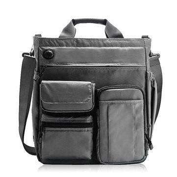 メンズNylon防水大容量クロスボディバッグ多機能ビジネスノートパソコンタブレットハンドバッグ