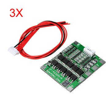 3Pcs 4S 30A 14.8V Li-ion Lithium 18650 Battery BMS Packs PCB Protection Board Balance