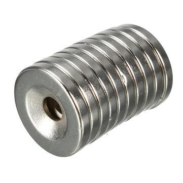 10 cái N35 Nam châm vòng tròn 20x3mm với nam châm đĩa Neodymium mạnh 5 mm