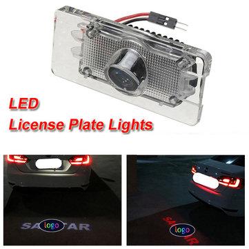 LED Laser Car License Number Plate Light Shadow Logo Projector Light for VW SAGITAR