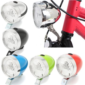 BIKIGHT Retro Bicycle Bike 3 LED Front Light Vintage Headlight Flashlight Lamp Lighter