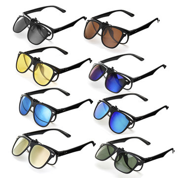 TR90 UV400 Polarized Sunglasses Lense Clips Lenses Glasses for Outdoor Driving Men Women