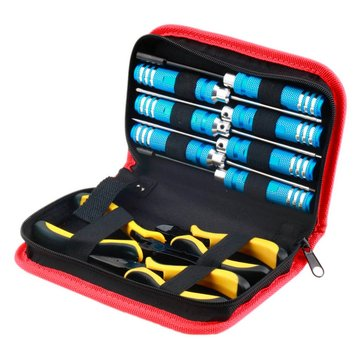 10 in 1 RC Helicopter Screwdriver Pliers Hex Repair Tools Box Set with Bag   ☆a