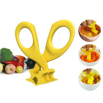 Real Bubee Baby Food Scissors Blister Crush Baby Food Supplement Scissors Children Tableware Baby Feeding Supplies