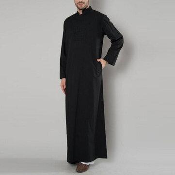 INCERUN Mens Vintage Arabian Robe Toppar Kaftan Lång Klänning