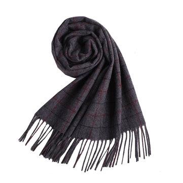 LYZA 190cm bufanda de estilo británico bufanda larga de lana de los hombres Soft chalaire Neckercheif