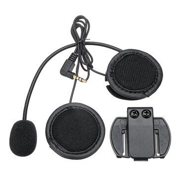 V6/V4 bluetooth Motorcycle Helmet Interphone Intercom Headset Headphone Black