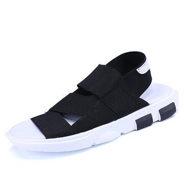 Comfy Rainy Days Shoes Men Casual Elastic Band Summer Sandals Beach Shoes
