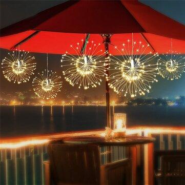 ARILUX® Solar Power 200LED 8 Modes IP65 DIY Firework Starburst Fairy String Christmas Holiday Light