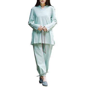 Confección de ropa deportiva sanitario de la meditación Yoga ropa de algodón del juego Yoga mujeres de la aptitud
