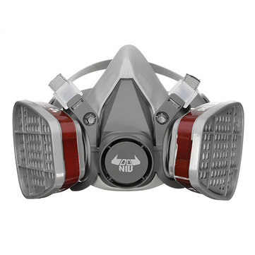 DANIU 6200 N95 Double Gas Mask Protection Filter Chemical Half Face Respirator Mask