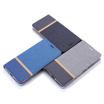 Bakeey Flip Stand Steel Layer Canvas Pattern PU Leather Full Protective Case For LeTV LeEco Le S3