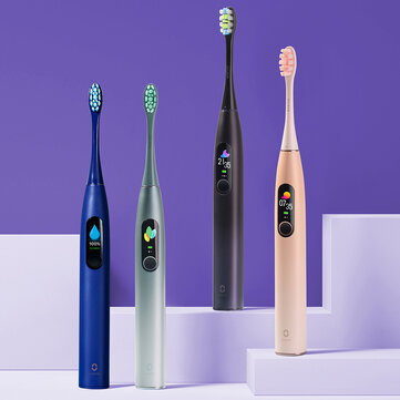 Oclean X PRO Sonic Electric Toothbrush 32 Levels IPX7 Waterproof Touchscreen Rechargeable Tooth Cleaner Support App for IOS & Android