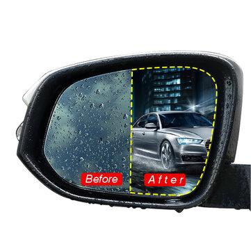 2Pcs Car Rear View Mirror Protective Film Nano Coating Rainproof Anti Fog 175x200mm