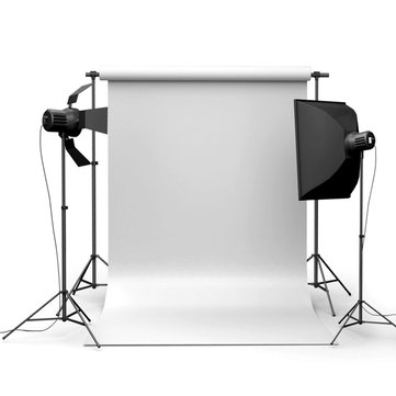 90x150cm 3x5ft Pure White Vinyl Studio Fotografía Telón de fondo apoyos fondo