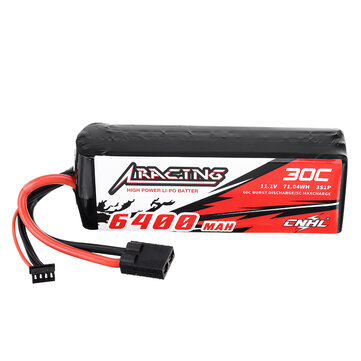 CNHL 11.1V 6400mAh 30C 3S Lipo Battery With TRX Plug for RC Car