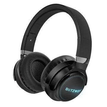 BlitzWolf BW HP0 Pro Wireless bluetooth Headphone RGB Light HiFi Stereo Bass 1000mAh AUX TF Card Noise Canceling Mic Gaming Headset