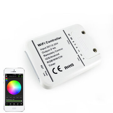 ARILUX® SL-LC 06 LED WIFI Smartphone Controller Romote 5 Channels DC12-24V For RGBWW Strip light