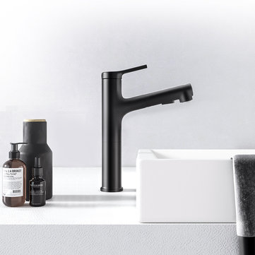 Diiib Bathroom Pull Out Rinser Sprayer Basin Sink High Body Black Faucet 2 Mode Mixer Tap from Xiaomi Youpin